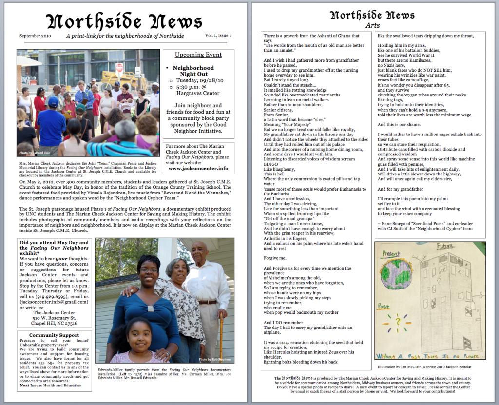The Northside News – The Marian Cheek Jackson Center